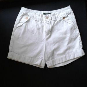 Lauren Ralph Lauren Petite White Shorts Size 10P